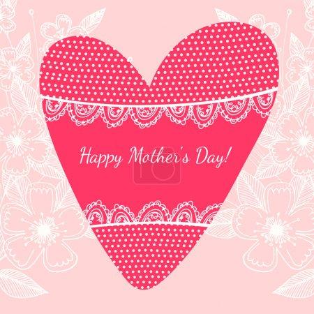 Illustration pour Joyeux fond de fête des mères, illustration vectorielle - image libre de droit
