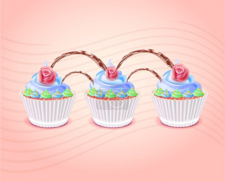 Illustration pour Illustration vectorielle des gâteaux d'anniversaire - image libre de droit