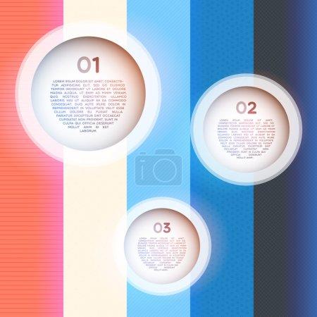 Illustration pour Étapes de progression du papier vectoriel pour le tutoriel - image libre de droit