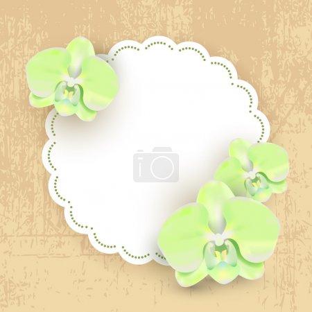 Illustration for Floral retro grunge labels - Royalty Free Image