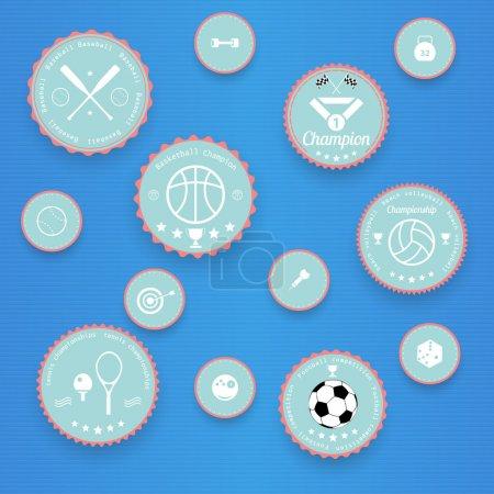 Sports vintage badges and labels