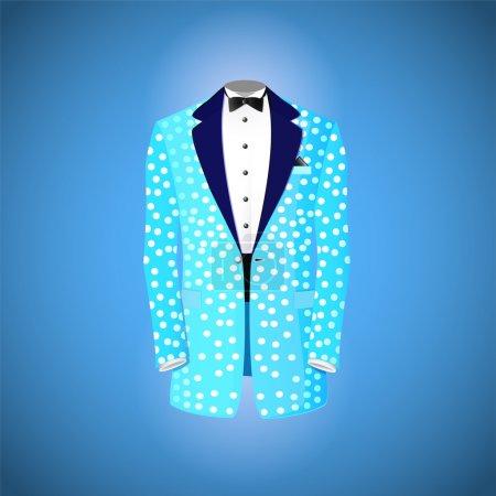 Illustration pour Illustration vectorielle costume bleu - image libre de droit