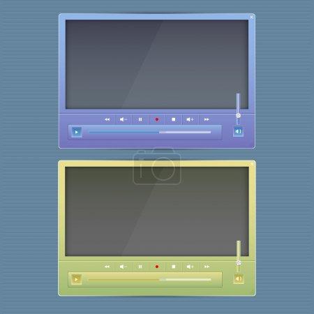 Multimedia Button interface vector illustration
