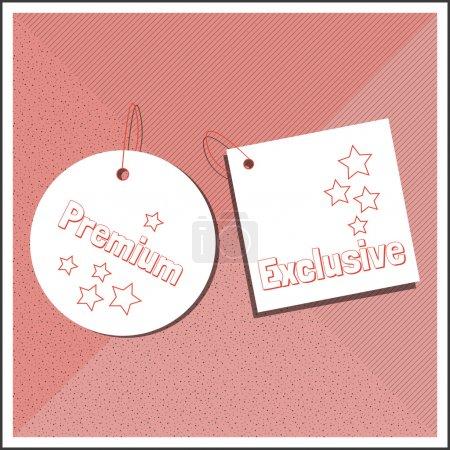 Illustration for Premium labels. vector illustration - Royalty Free Image