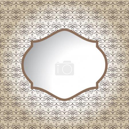 Illustration for Vintage frame. vector illustration - Royalty Free Image