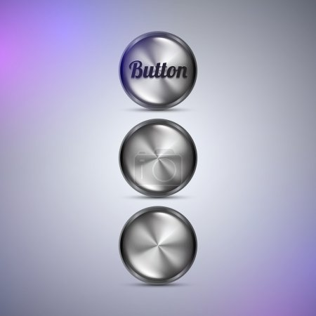 Illustration for Vector buttons,  vector illustration - Royalty Free Image