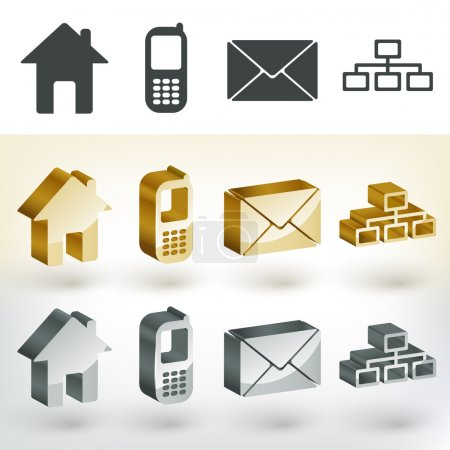 Illustration for Vector communication icons,  vector illustration - Royalty Free Image