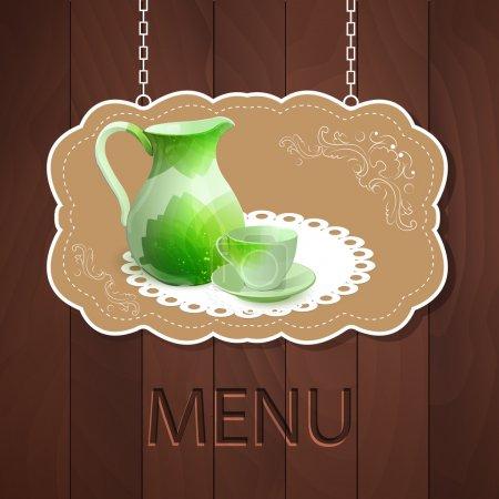 Vector menu,  vector illustration