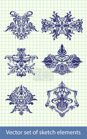 Photo for Abstract hand-drawn elements - Royalty Free Image