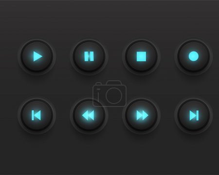 Media player icons vector illustration