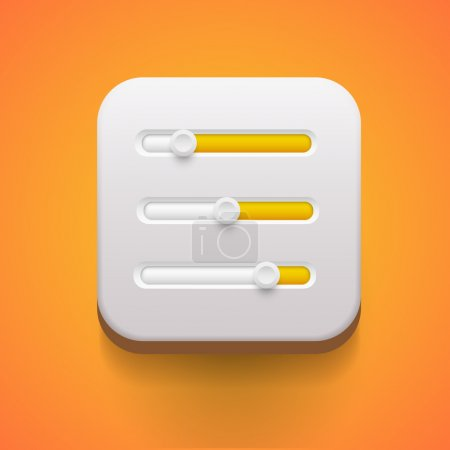 Illustration for User interface power sliders - Royalty Free Image