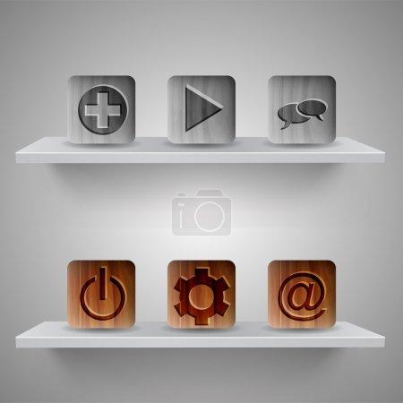 iconos web vector ilustración