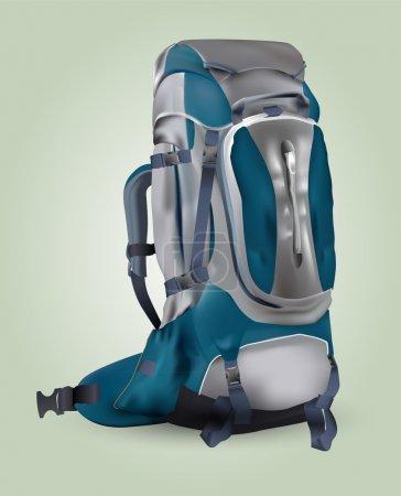 Illustration pour Illustration vectorielle d'un sac à dos touristique . - image libre de droit