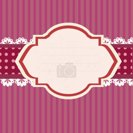 Illustration for Retro Tag. Vector vector illustration - Royalty Free Image