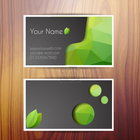 Illustration pour Illustration vectorielle de carte de visite vectorielle - image libre de droit