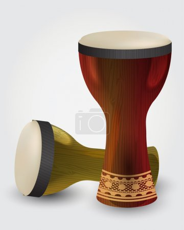 Percussion drums. vector illustration