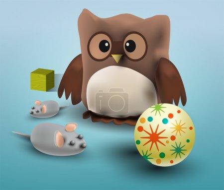 Illustration vectorielle des jouets .