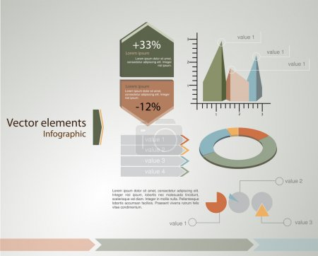 Vector infographic elements. vector illustration