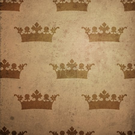 Vintage background with crown.