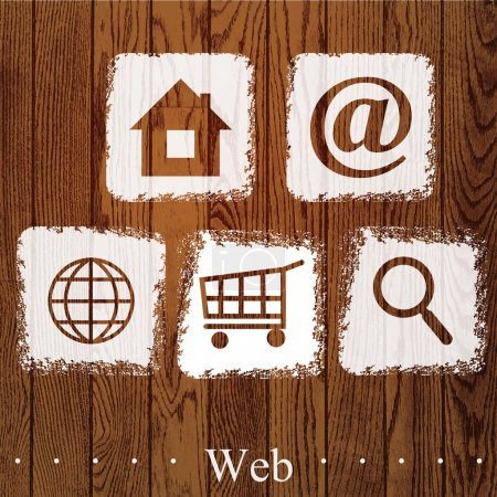 Vector set of web icons.