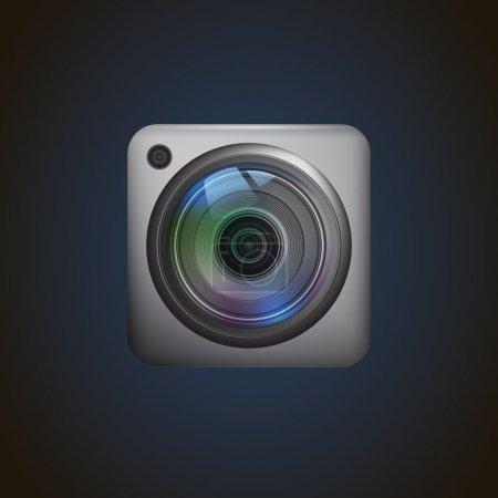 Illustration pour Icône appareil photo. Illustration vectorielle - image libre de droit