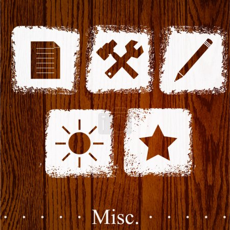 Illustration pour Ensemble vectoriel d'icônes diverses . - image libre de droit