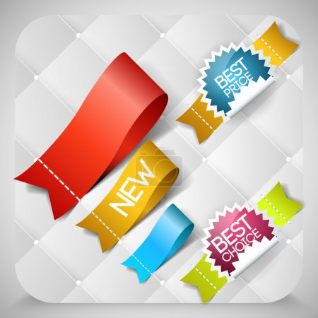 Vector stickers set with best choice message.