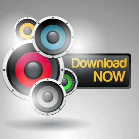 Illustration pour Téléchargement de musique illustration vectorielle - image libre de droit