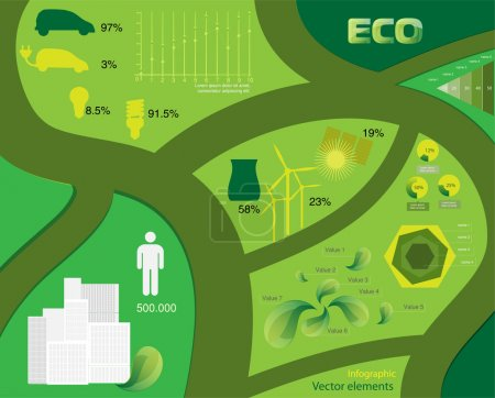 Vector infographic Ecology elements.