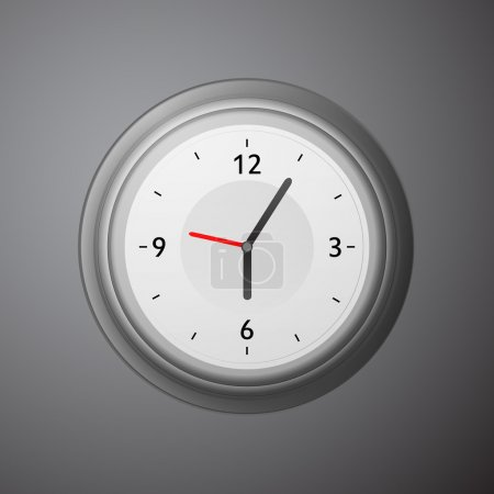 Wall mechanical clock. Vector illustration.