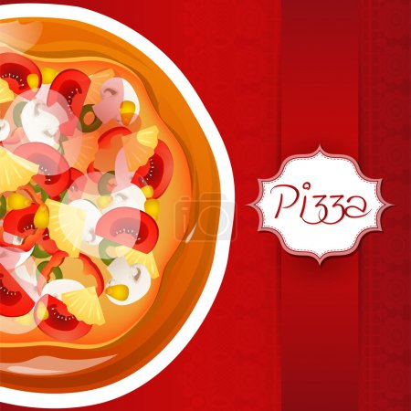 Photo pour Fond avec pizza avec place pour le texte - image libre de droit