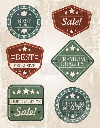 Illustration for Set of retro vintage badges and labels. - Royalty Free Image