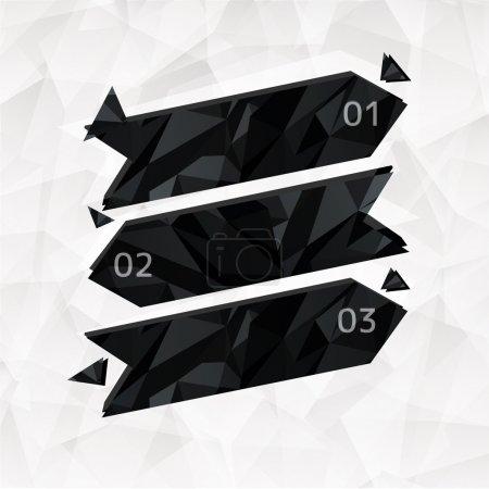 Pegatinas de flecha con botones numerados