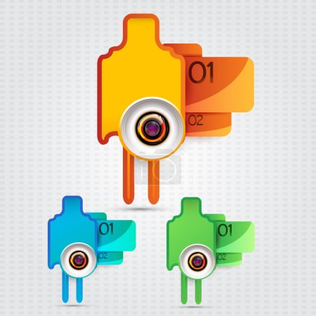 Vector  abstract icons,   vector illustration