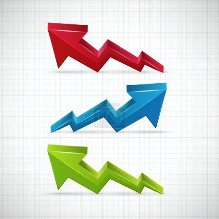 Success graphic. Vector Illustration