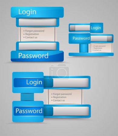 Login and registration web