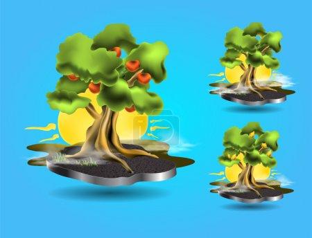Vector tree icons,   vector illustration