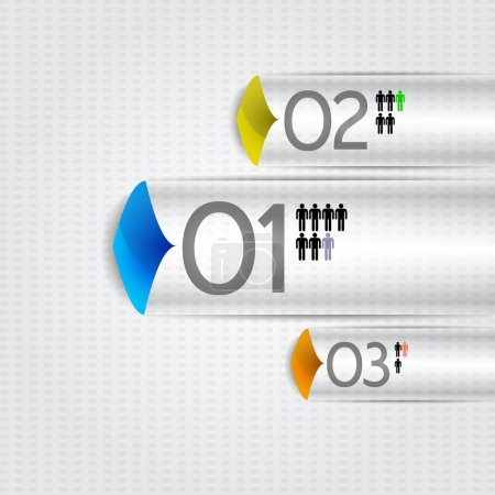 Illustration for Steps process arrows. Vector. - Royalty Free Image