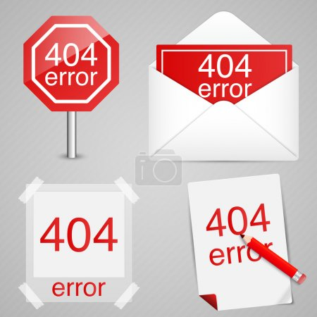 Illustration for 404 error sign  vector illustration - Royalty Free Image