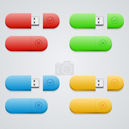 Photo for Universal flash drive  vector illustration - Royalty Free Image