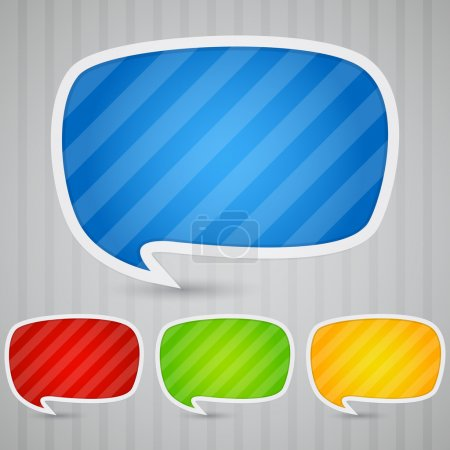 Illustration for Colorful Sticky Speech Bubbles - Royalty Free Image