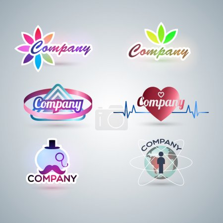 Illustration pour Illustration de l'ensemble de symbole pour la conception du logo - image libre de droit