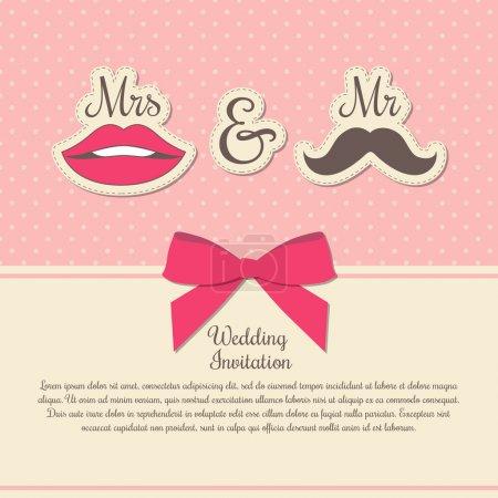 Photo pour Carte d'invitation de mariage illustration vectorielle - image libre de droit