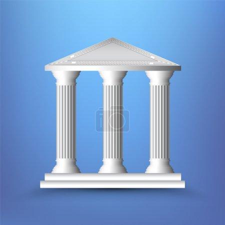 Ilustración de vectores de columnas antiguas