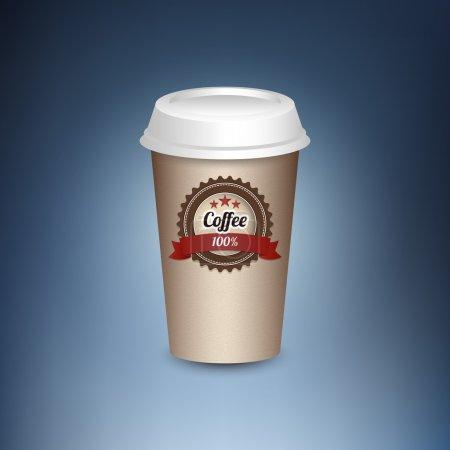 Illustration pour Tasse de café en papier. - image libre de droit