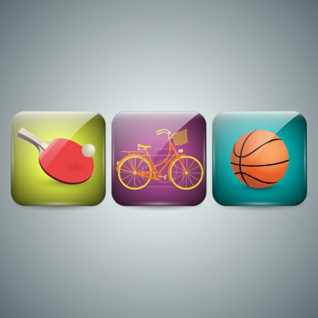 Sport icons.  vector illustration