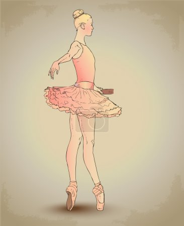 Illustration for Beautiful Ballerina. Vector illustration. - Royalty Free Image