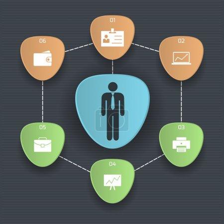 Illustration pour Ensemble d'icônes sur une communication thématique. Une illustration vectorielle - image libre de droit