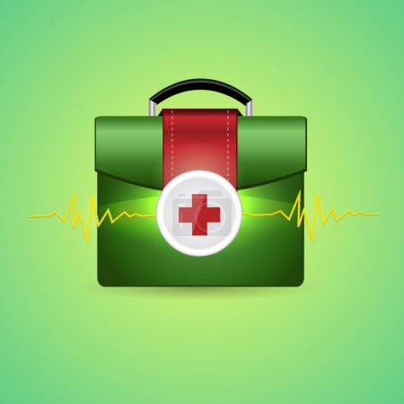 Photo for Vector illustration of first aid box - Royalty Free Image