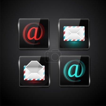 Définir l'icône de messagerie vectorielle